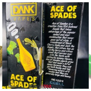 Ace of Spades Dank Vapes is a creation from TGA Subcool Seeds that takes advantage of the popular sweet never goes out of style.