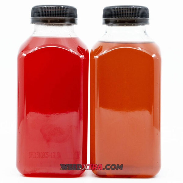 Canna Juice is Available in two flavors: Fruit Punch and Kiwi Strawberry and infused with 500mg THC. This cannabis drink packs a powerful punch and tastes super delicious!