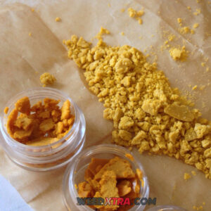 Chemo Crumble is made from the Indica strain of cannabis known as Chemo designed to help chemotherapy with nausea, vomiting, loss of appetite