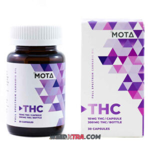 Buy 10mg THC Capsules by Mota are created with high quality THC oil which contains a full range of cannabinoids from a sativa strain.