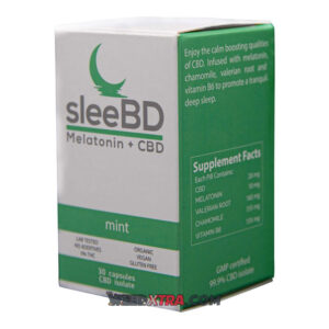 Buy Mint flavoured CBD infused Sleep Aid by SleeBD help you enjoy the calm boosting qualities of CBD. Infused with melatonin, chamomile..