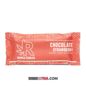 Buy Ripped Edibles StrawberryChocolateBar infused with 400mg THC per bar and filled with sweet and delicious berry flavors making.